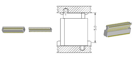 0.8 mm Board To Board Connector-5.0H