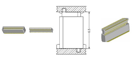 0.8 mm Board To Board Connector-6.5H